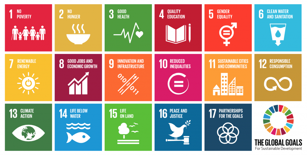 Chart of UN Sustainable Development Goals 1024x521